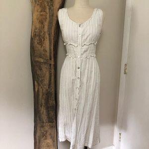 NWOT Linen Button-Down Midi Dress